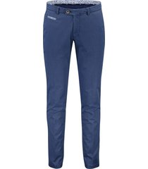 portofino pantalon flatfront slim fit navy stretch