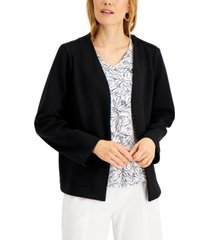 alfani jersey-knit open front jacket, created for macy's