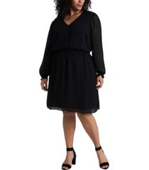 1.state trendy plus size smocked fit & flare dress