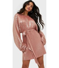 adoore sleeve statement dress metallic loose fit