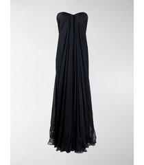 alexander mcqueen draped details long dress