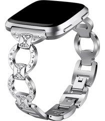 a apple para ver bandas de metal de diamante de 22mm de acero inoxi