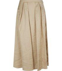 fabiana filippi plain pleated skirt