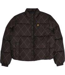 argyle puffer jacket