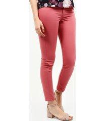 pantalón 5 bolsillos unicolor bota tubo rosa 10