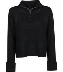 360cashmere tess zip popover sweater