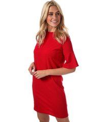 daisy street fluted sleeve dress size 14 in red