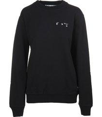 off-white liquid arrows black woman oversize sweatshirt