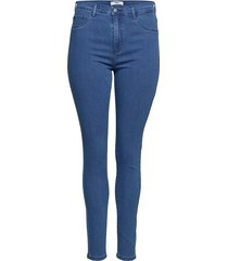 carstorm push up hw sk jeans mbd noos skinny jeans blå only carmakoma