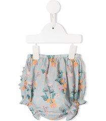 velveteen cecily bloomer shorts - blue
