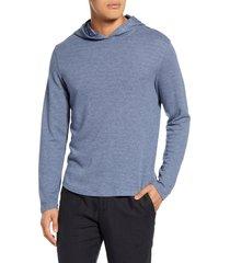 men's vince slubbed pullover hoodie, size x-large - blue