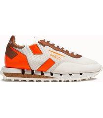 ghoud sneakers rush t low colore bianco arancione