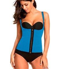 colete modelador cinta corselet corset neoprene redutor de medidas hot shapers zíper - feminino