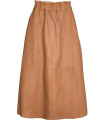 long skirt knälång kjol brun depeche