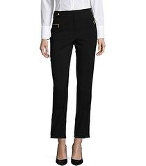 slim-fit cropped pants