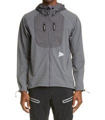 men's and wander trek water repellent jacket, size 3 - grey