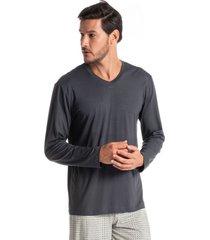 pijama masculino longo estampado henrique