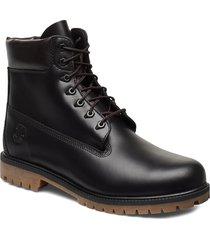 6 inch heritage boot snörade stövlar svart timberland