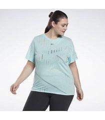 t-shirt korte mouw reebok sport burnout t-shirt (plus size)