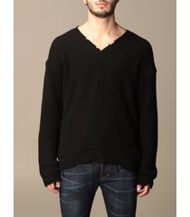 dsquared2 sweater dsquared2 cotton v-neck pullover with back logo
