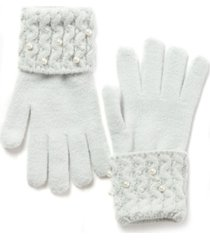 inc embellished-cuff gloves, created for macy's