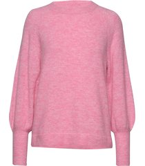 slfkylie ls knit o-neck b gebreide trui roze selected femme