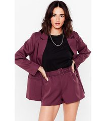 womens it suits you petite belted shorts - mauve