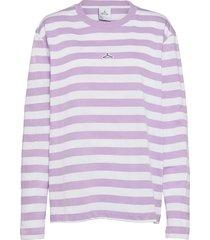 hanger striped longsleeve t-shirts long-sleeved lila hanger by holzweiler