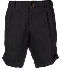 briglia 1949 straight-leg linen shorts - black