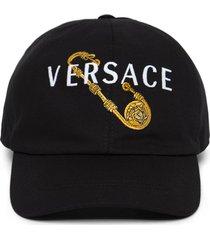 medusa pin logo baseball cap black