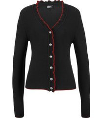 cardigan bavarese (nero) - bpc bonprix collection
