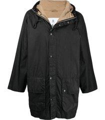 barbour hiking wax jacket - black