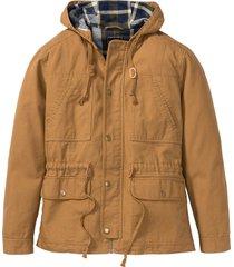 giacca da mezza stagione con cappuccio (marrone) - rainbow