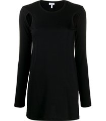 loewe arm hole long top - black