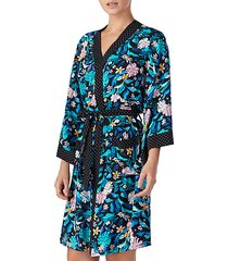 floral dotted belted robe