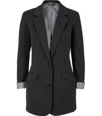 blazer lungo in jersey di cotone stile boyfriend (nero) - bpc bonprix collection