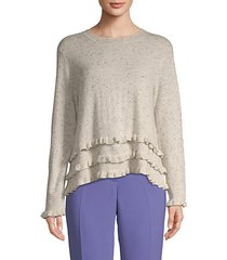 adiella ruffled cashmere sweater