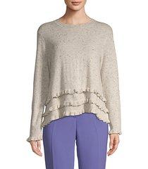 adiella ruffled cashmere sweater