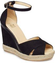espadrilla 8940 sandalette med klack espadrilles svart billi bi