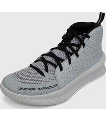 tenis basketball gris-blanco under armour ua jet mod