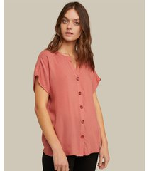 blusa manga corta cuello v