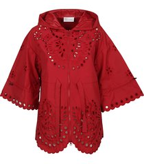 red valentino oversize perforated jacket
