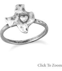 deep in the heart of texas sterling silver ring