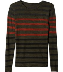 blusa john john tricot zack listrado masculina (listrado, gg)