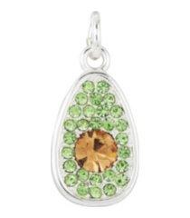 fine silver plated avocado charm