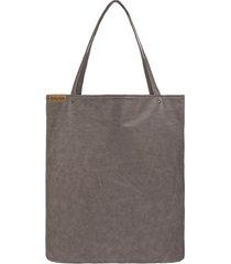 shopper xl torba brązowa na zamek