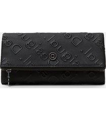 rectangular wallet logo relief - black - u