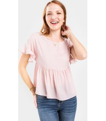 tina babydoll blouse - blush