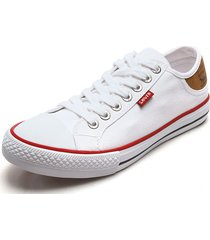 tenis blanco-rojo levis stan buck