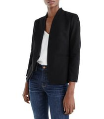 women's j.crew going out blazer, size 18 - black